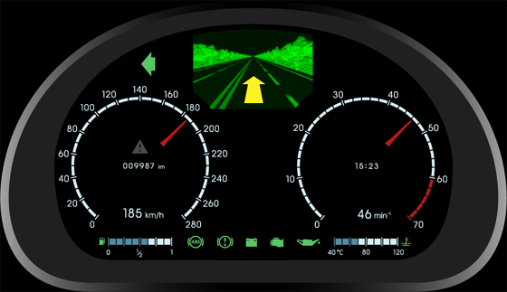 Digital Gauge Cluster : Car gauge cluster best cars reviews