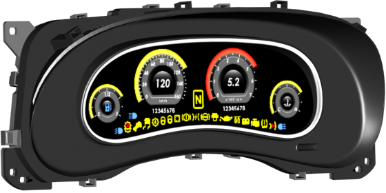 Fig. 4. Digital instrument cluster graphical design.
