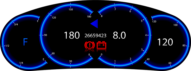 VIC Laplace Z — Librow — Digital LCD dashboards for cars and