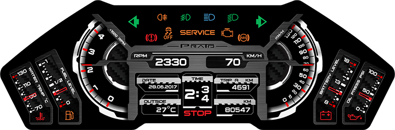 Firmware for digital instrument clusters — Librow — Digital